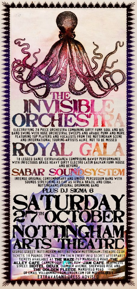 Invisible Orchestra 27th Oct 2012