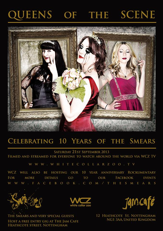 Sept 21st 2013 The Smears ten years of