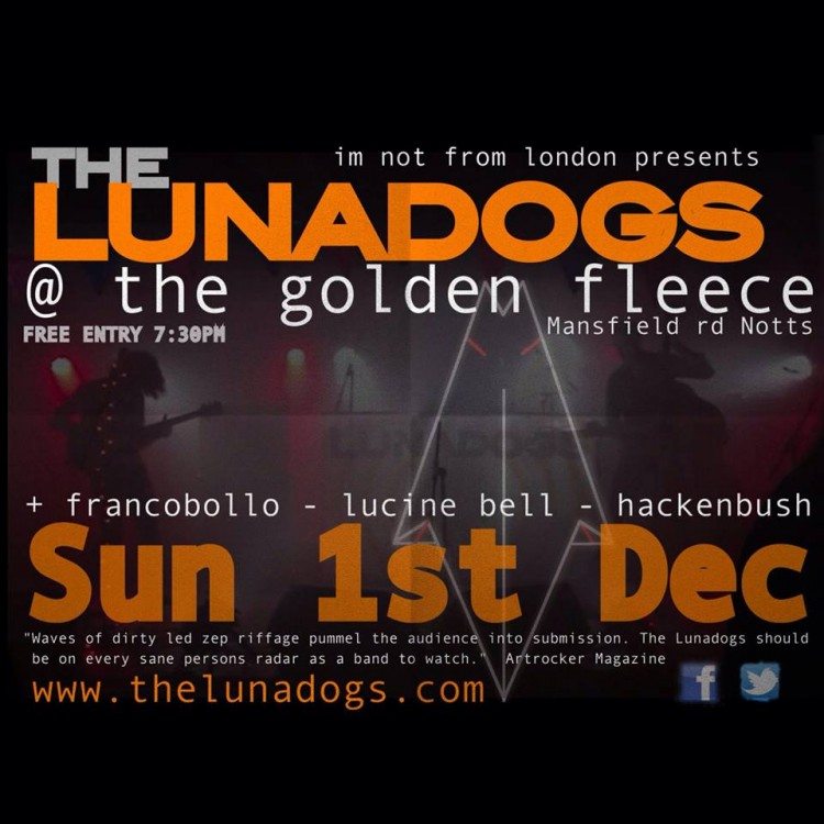 The Lunadogs Sun 1st December 2013