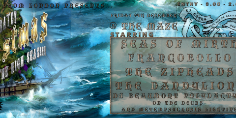 Christmas on the high seas - Fri 9th Dec at The Maze