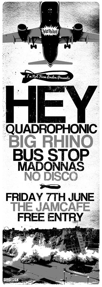 Hey Quadrophonic Jamcafe 7th June 2013