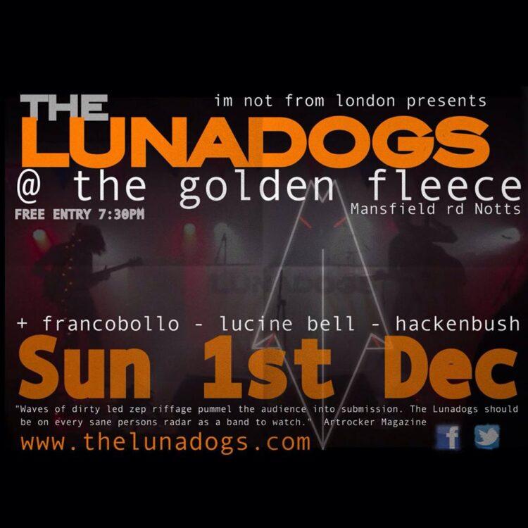 The Lunadogs Sun 1st December 2013
